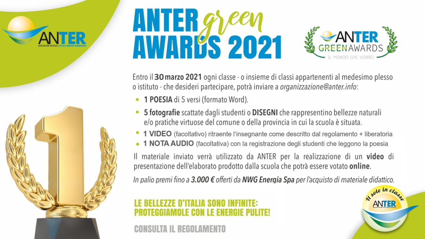Gli ANTER Green Awards